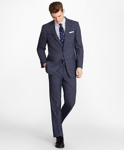 Regent Fit BrooksCool® Subtle Plaid Suit