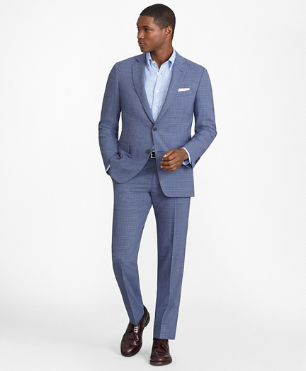 Regent Fit BrooksCool® Subtle Plaid Suit