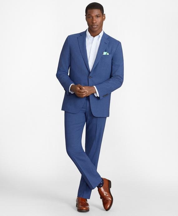 Regent Fit BrooksCool® Pinstripe Suit Blue