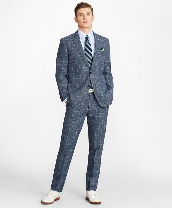 Regent Fit Combo Check 1818 Suit Blue
