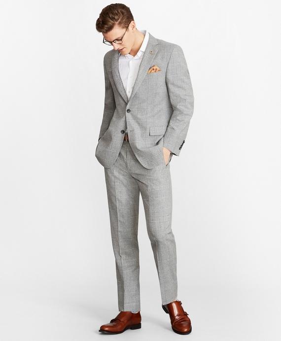 Regent Fit Multi-Plaid 1818 Suit Grey