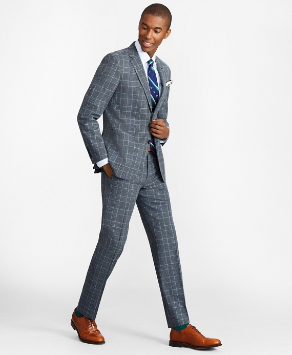 Milano Fit Combo Check 1818 Suit Blue