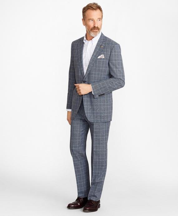 Madison Fit Combo Check 1818 Suit Blue