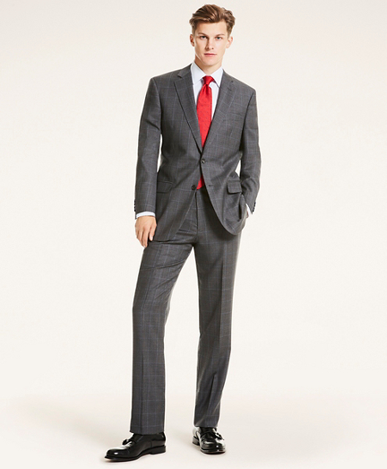 Madison Fit Plaid Wool Twill 1818 Suit