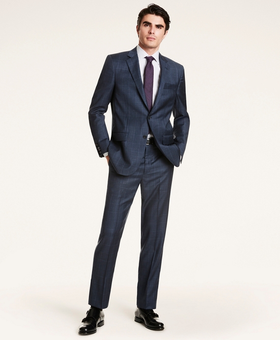 Madison Fit Wool Twill 1818 Suit Blue