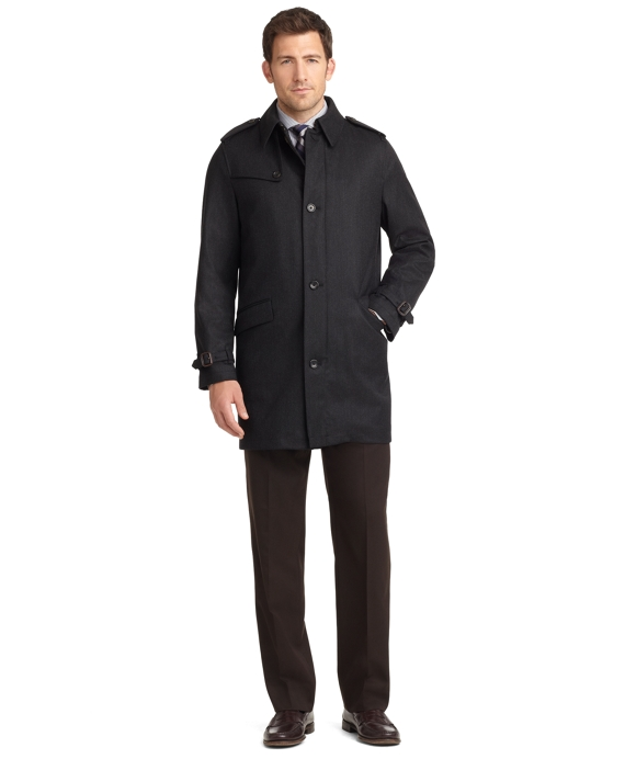 BrooksStorm® Twill Trench Coat Charcoal