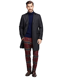 Saxxon Wool Herringbone Chesterfield