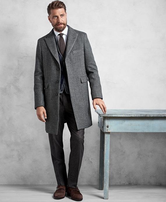 Golden Fleece® Grey Herringbone Topcoat Grey