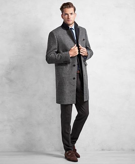 Golden Fleece® Black and White Plaid Topcoat