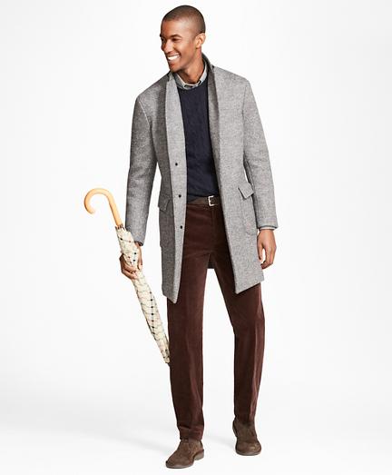 Herringbone Knit Topcoat