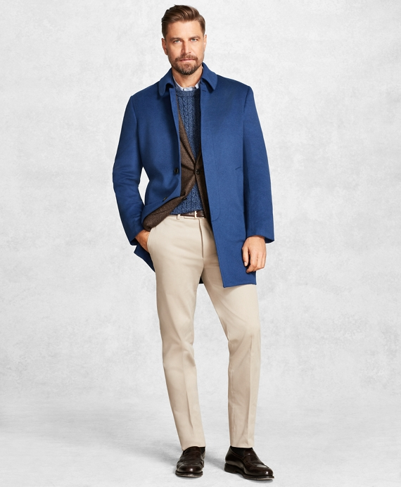 Golden Fleece® Blue Camel Hair Car Coat Blue