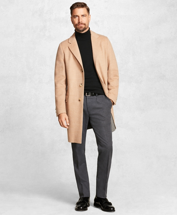 Golden Fleece® Double-Faced Topcoat Camel-Grey