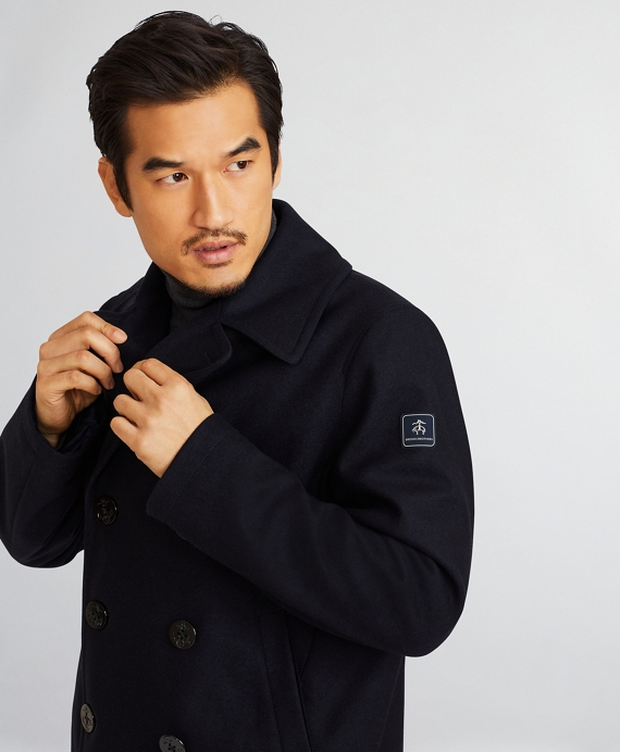 Iconic Wool Pea Coat Navy