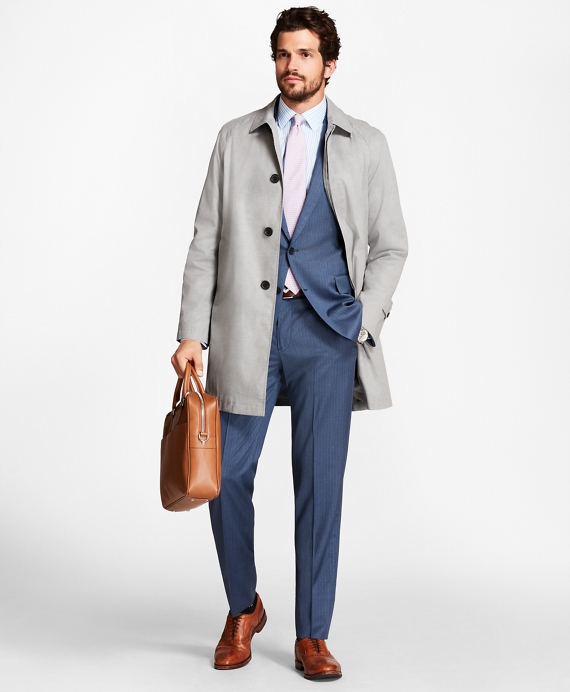 Sharkskin Trench Coat by Brooks Brothers