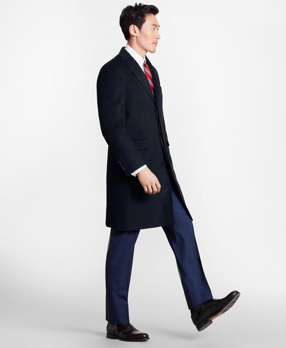 Golden Fleece® BrooksStorm® Westbury Cashmere Overcoat Navy