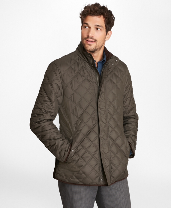 Quilted Walking Coat Grey
