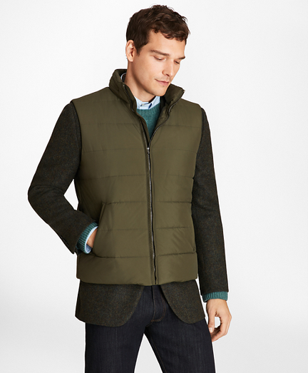 Water-Repellent Tech Twill Quilted Vest