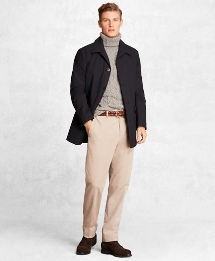 Golden Fleece® Wool Tech Short Trench Coat