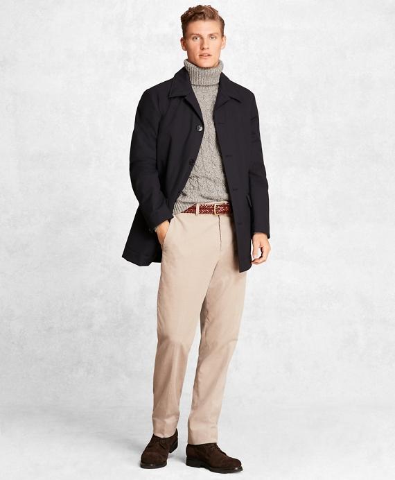 Golden Fleece® Wool Tech Short Trench Coat Navy