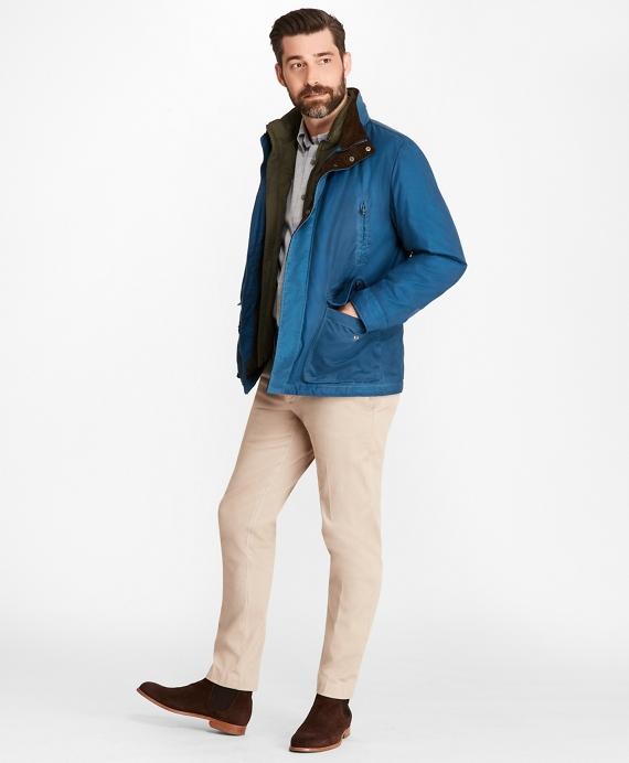 Waxed Cotton Field Jacket Blue