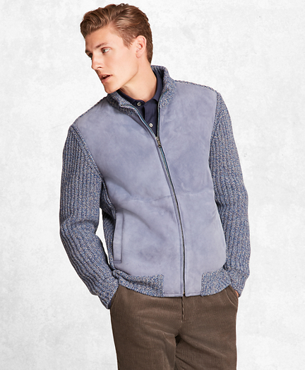 Golden Fleece® Shearling Zip-Up Cardigan Jacket