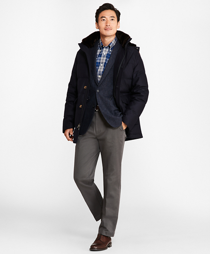 Water-Resistant Wool Down-Filled Parka