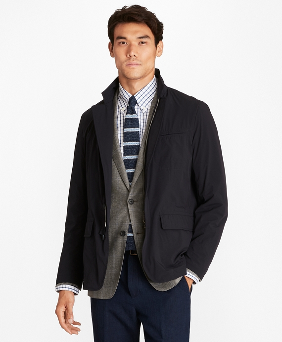 Water-Repellent Stretch Hybrid Jacket Navy