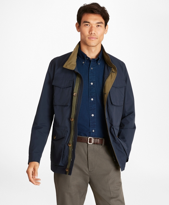 Water-Repellent Field Jacket Navy