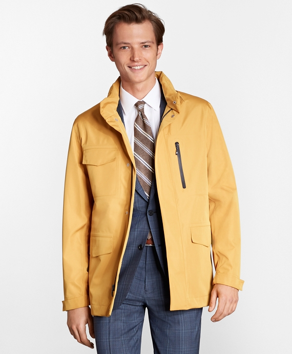Water-Repellent Walking Coat Mustard