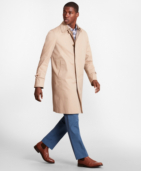 Single-Breasted Trench Coat Khaki