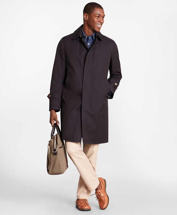 Single-Breasted Trench Coat Navy