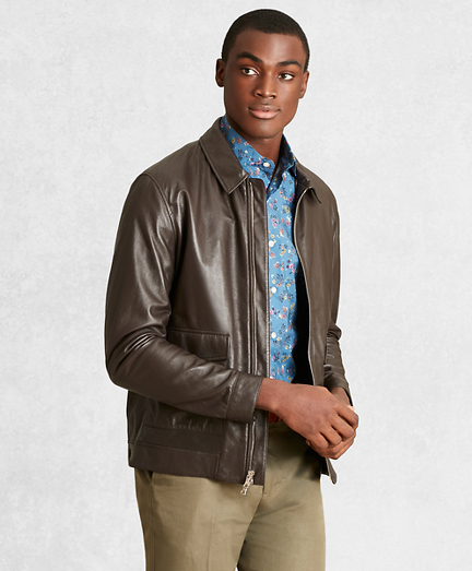 Golden Fleece® Leather Bomber Jacket