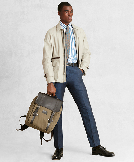 Golden Fleece® Linen-Blend Twill Jacket