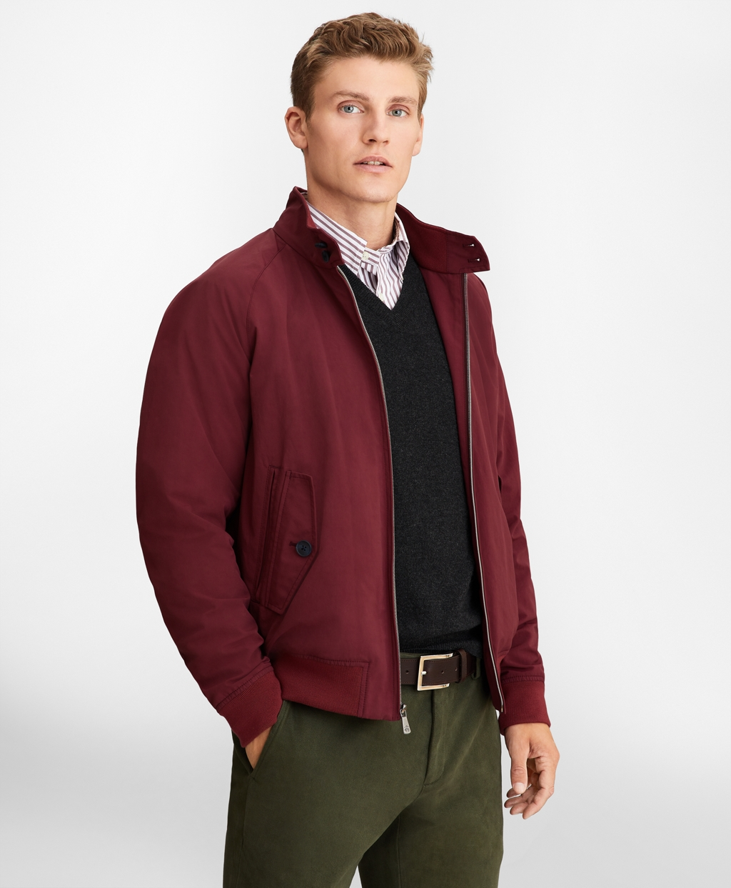 Men's Vintage Jackets & Coats Brooks Brothers Mens Vintage Bomber Jacket $208.60 AT vintagedancer.com
