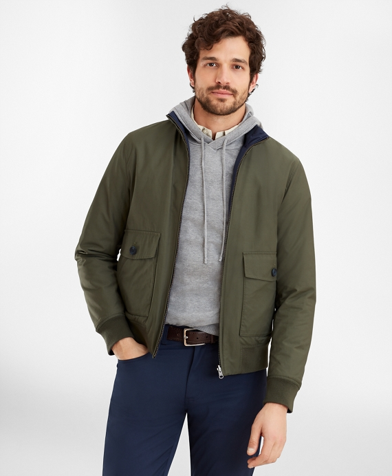 Reversible Bomber Jacket Green