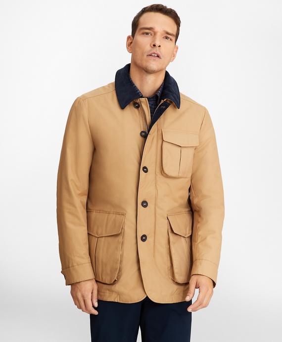 Removable-Lining Barn Coat Tan