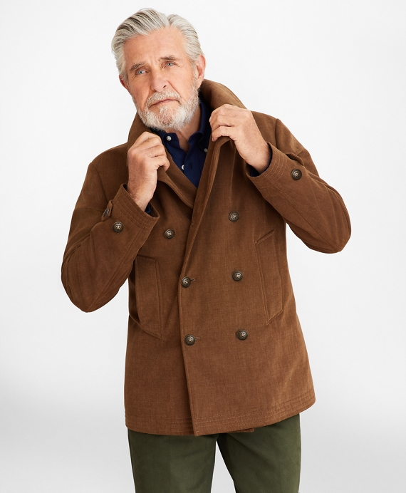 Brushed Canvas Peacoat Light Brown