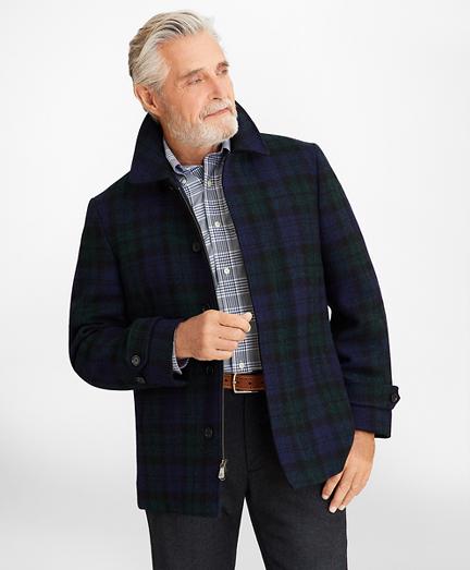 Harris Tweed Black Watch Walking Coat