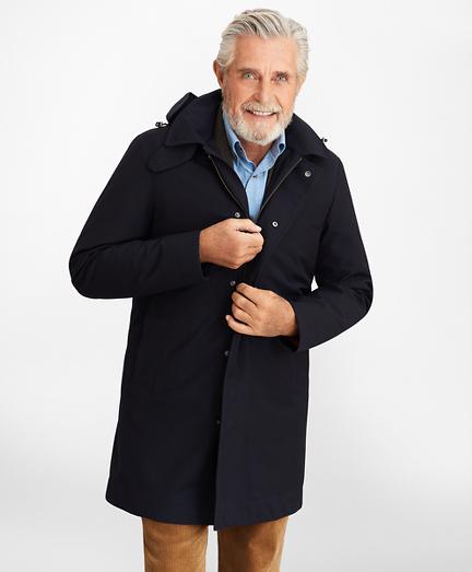 Bonded Twill Hooded Topcoat