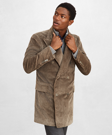 Golden Fleece® Double-Breasted Corduroy Topcoat