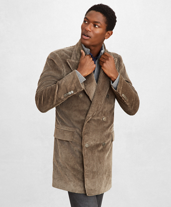 Golden Fleece® Double-Breasted Corduroy Topcoat