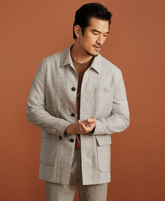 Golden Fleece® Wool-Silk-Linen Walking Coat Natural