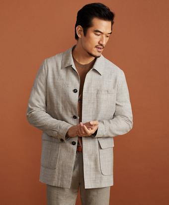 Golden Fleece® Wool-Silk-Linen Walking Coat