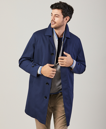 Water-Repellent Cordura Trench Coat
