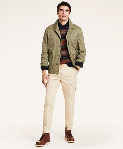Stretch Cotton Twill Chore Jacket