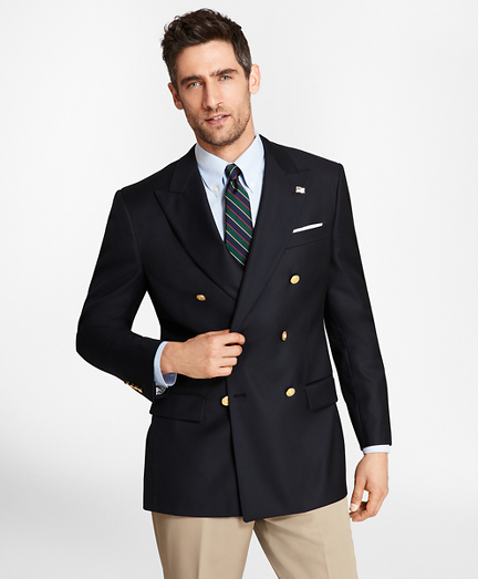 Country Club Madison Fit Saxxon™ Wool Double-Breasted Blazer