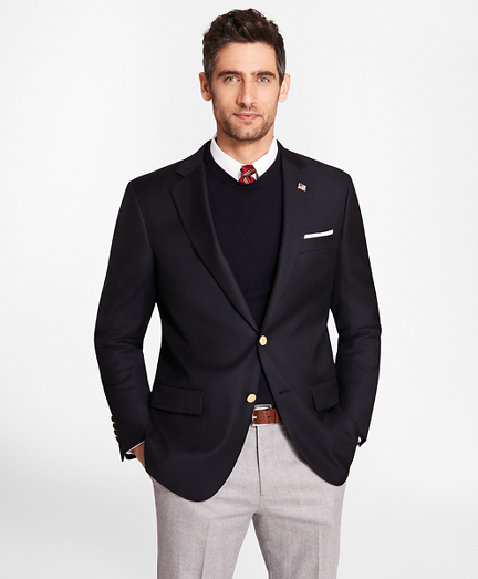 Country Club Madison Fit Saxxon™ Wool Two-Button Blazer