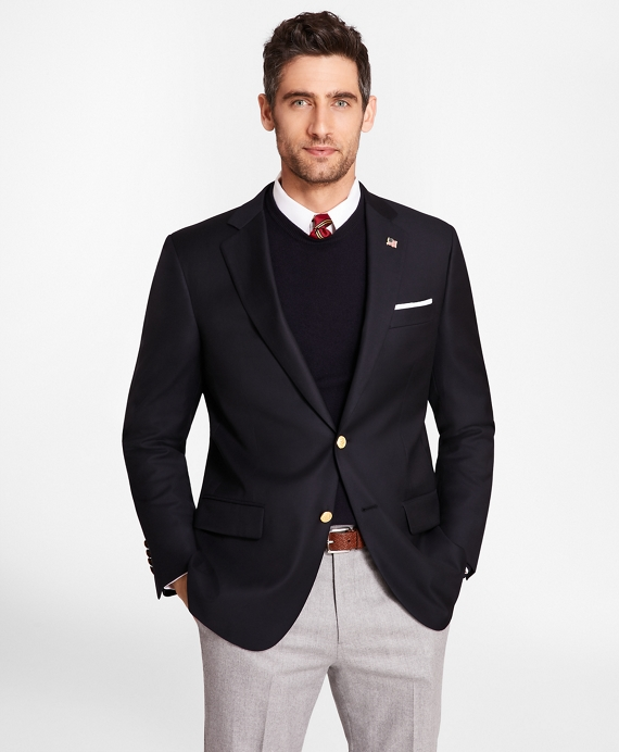 Country Club Madison Fit Saxxon™ Wool Two-Button Blazer Navy
