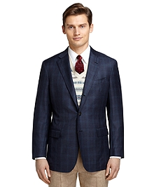Regent Fit Navy Plaid with Teal Windowpane Sport Coat