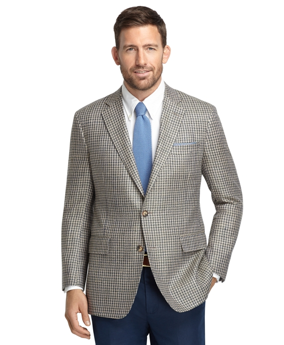 Regent Fit Green Check Matka Sport Coat Green